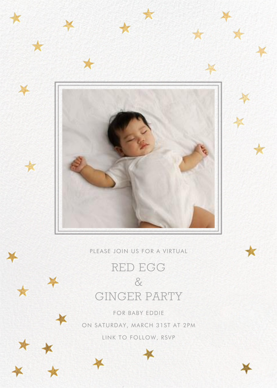 Starry First Birthday - Sugar Paper - Virtual parties