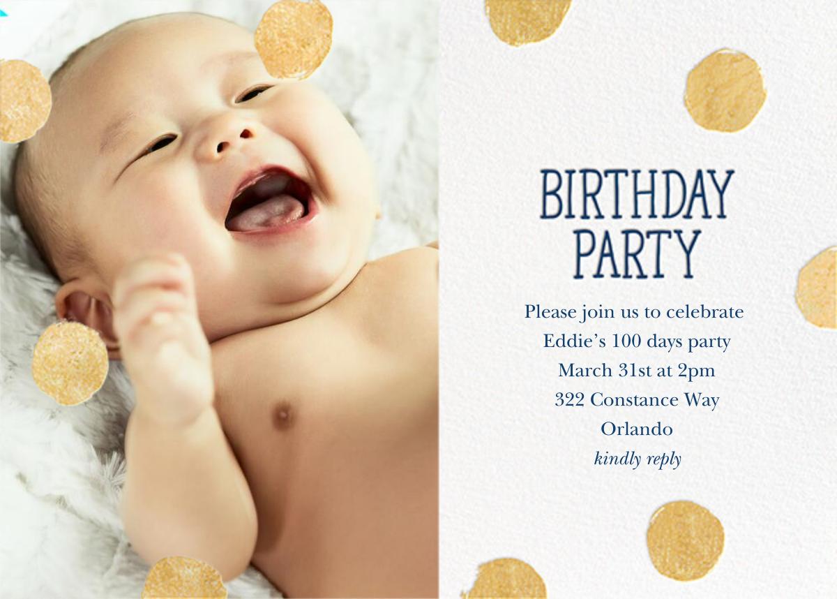 Big Dot Birthday (Photo) - Dark Blue - Sugar Paper - 100 day celebrations