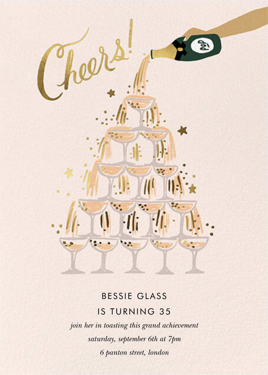 Champagne Tower - Medium - Rifle Paper Co.
