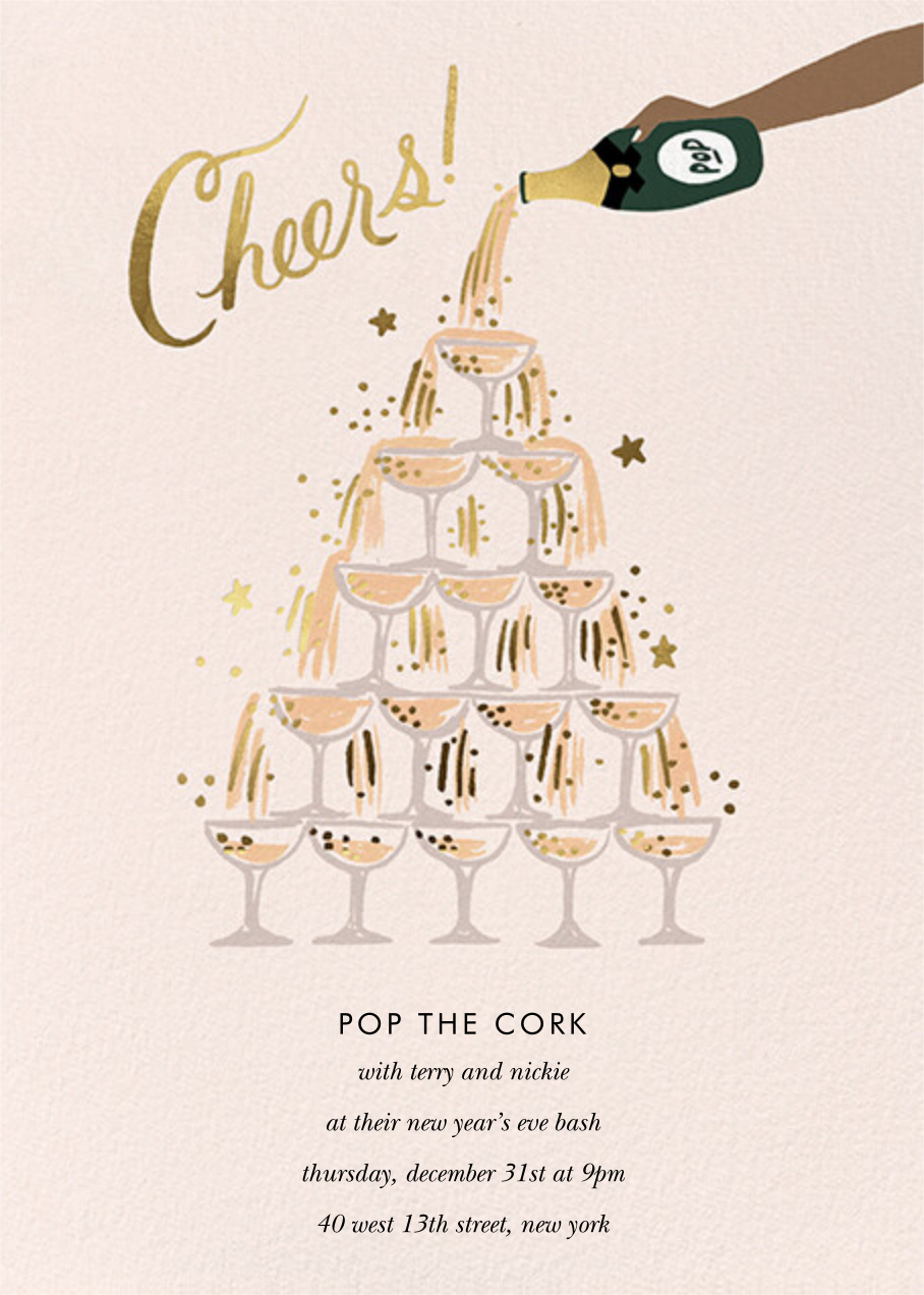 Champagne Tower - Tan - Rifle Paper Co. - New Year's Eve