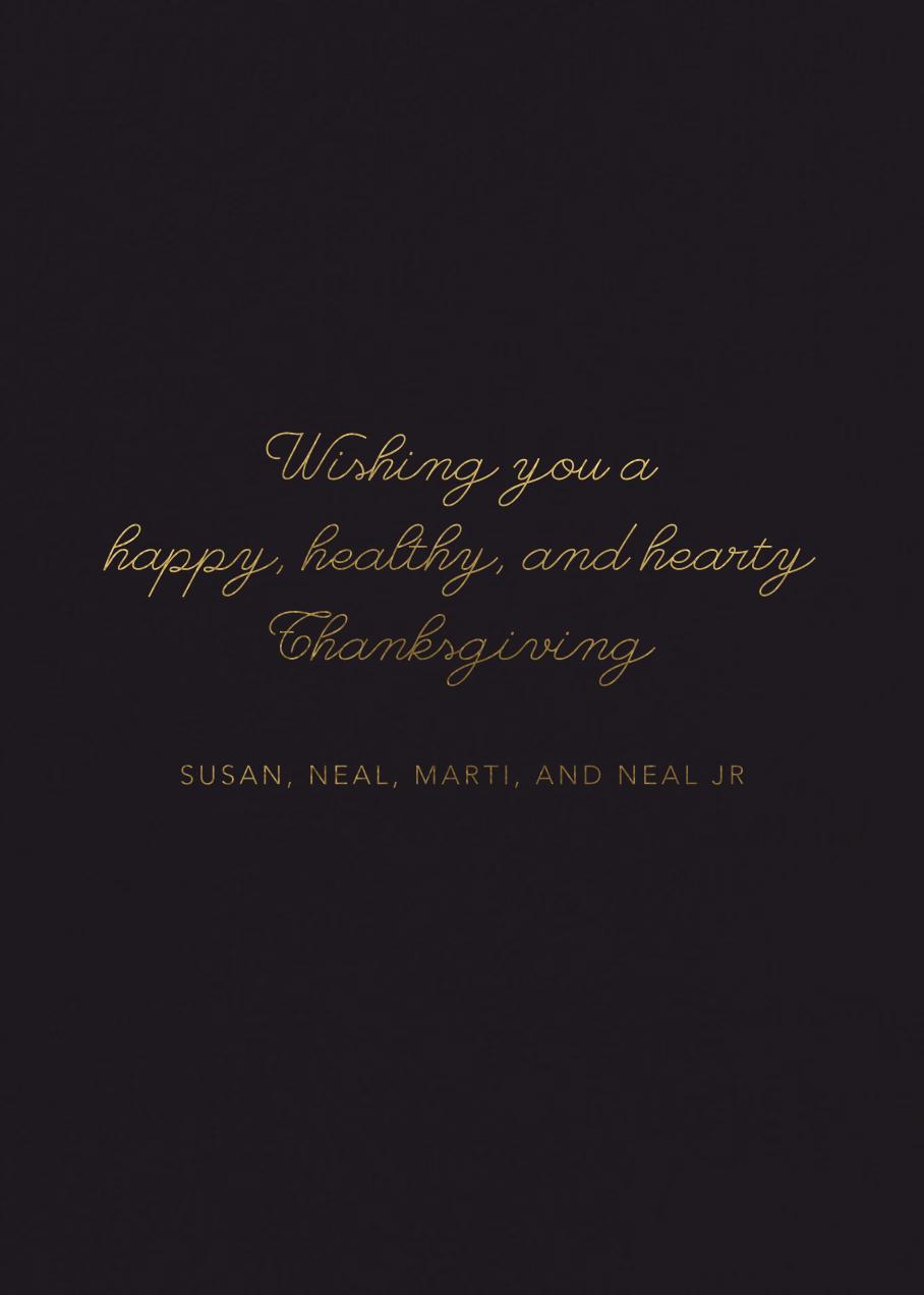 Winter Perennials (Michelle Morin) - Red Cap Cards - Thanksgiving - card back