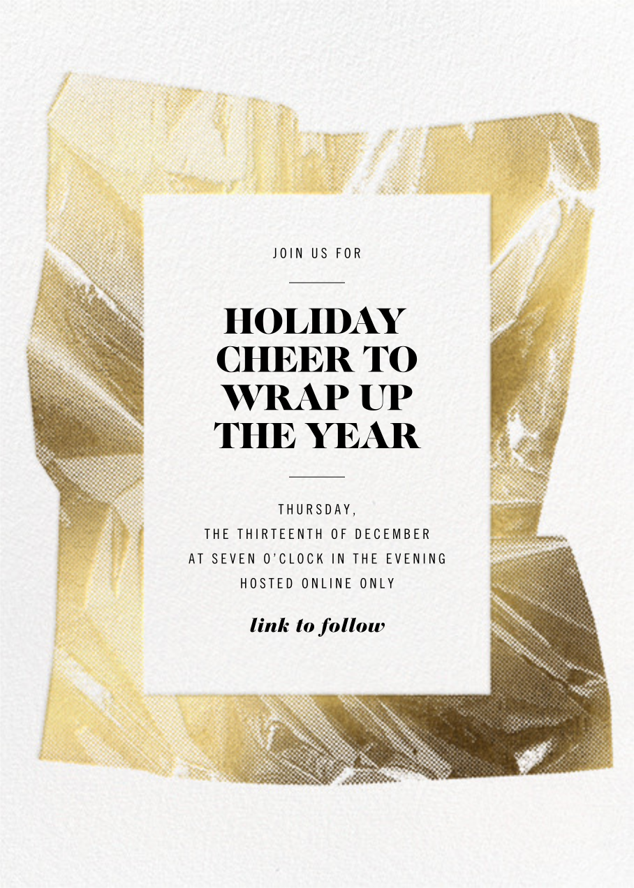 Unwrapped - White - Paperless Post - Holiday party