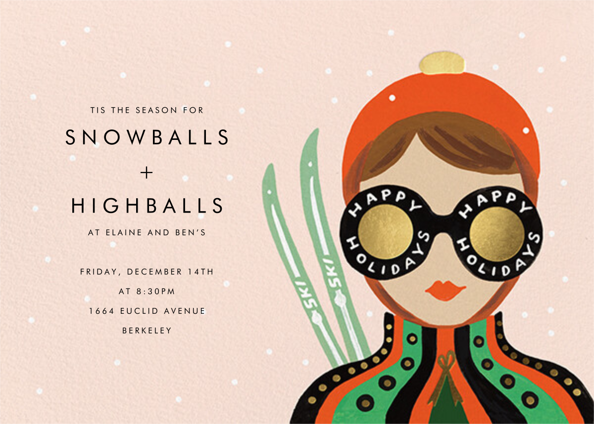 Ski Shades - Light - Rifle Paper Co. - Winter entertaining