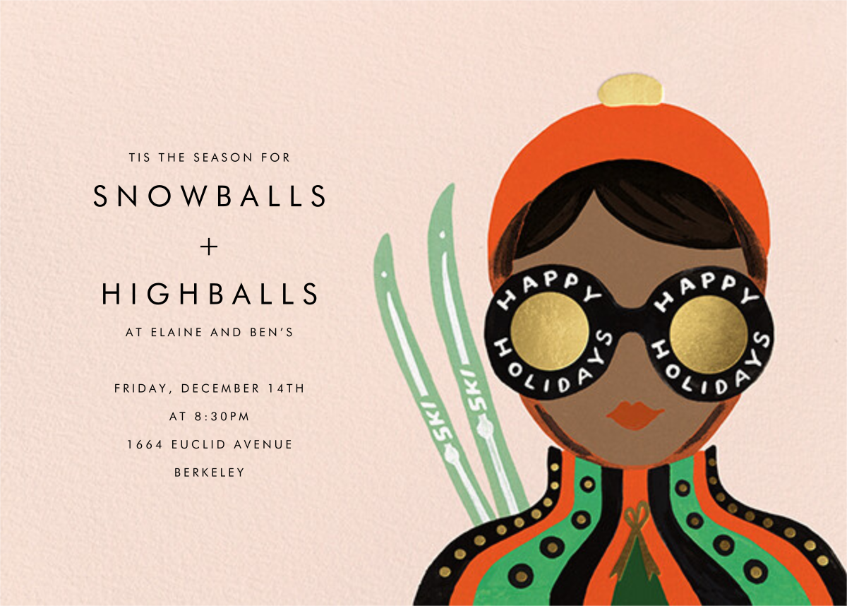 Ski Shades - Tan - Rifle Paper Co. - Winter parties