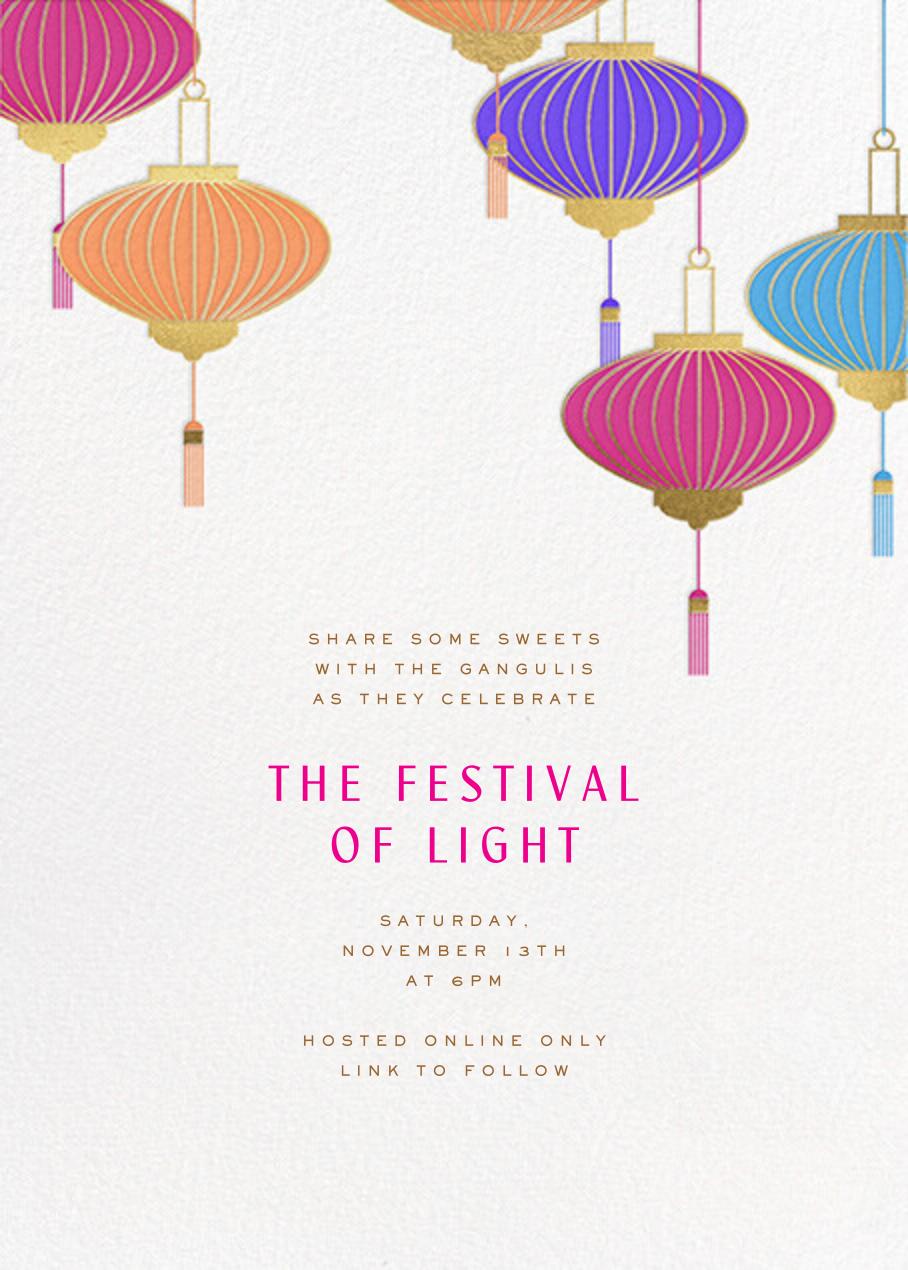 Lantern Tassels - Multi - Paperless Post - Diwali