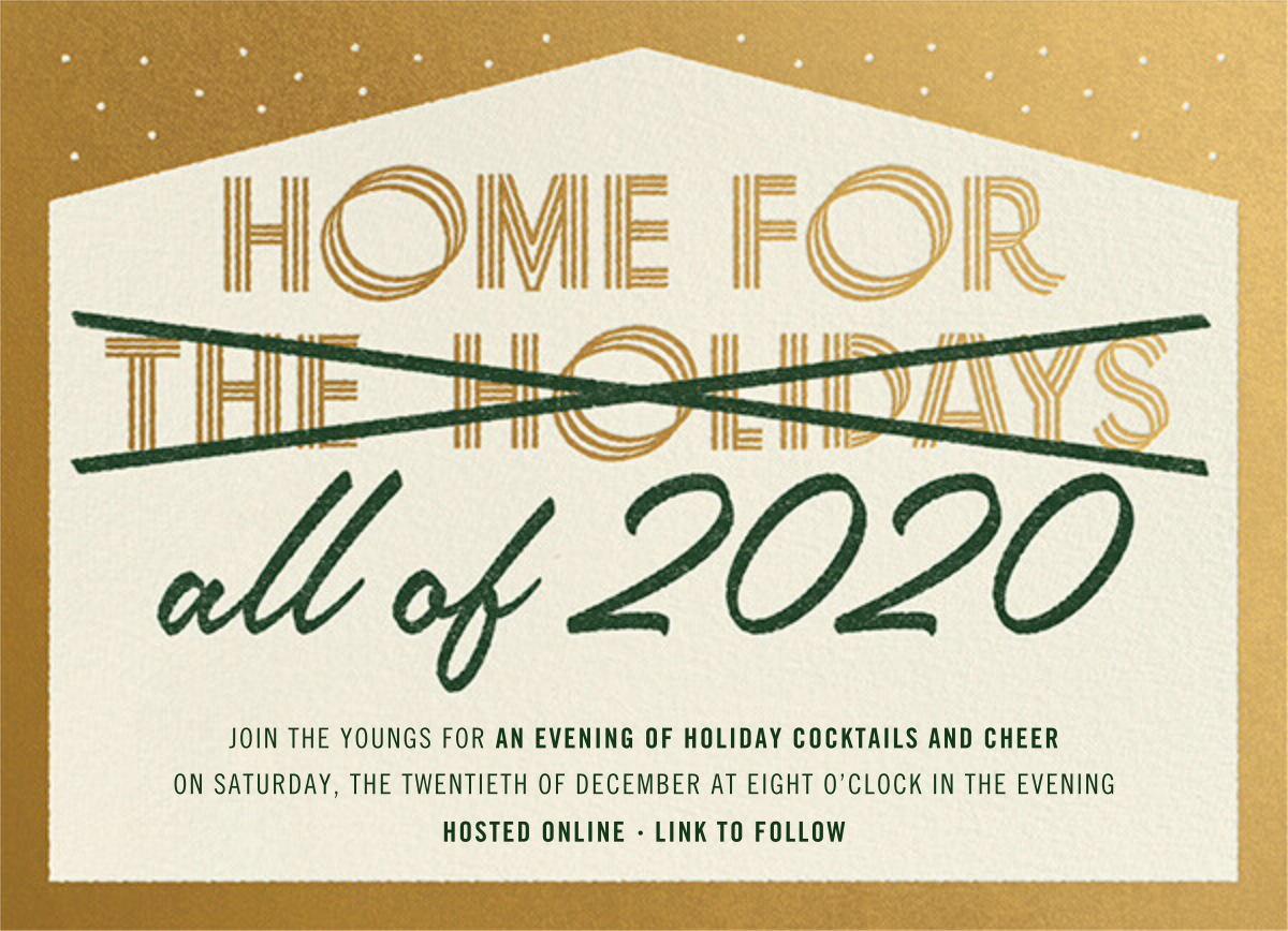 Home Forever - Paperless Post - Holiday party