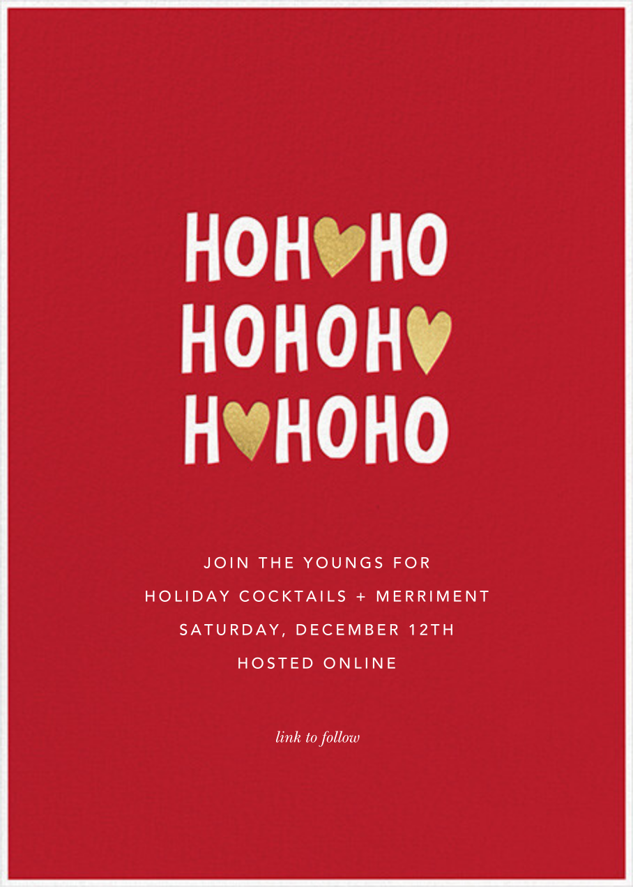 Ho Ho Hearts - Sugar Paper - Christmas party