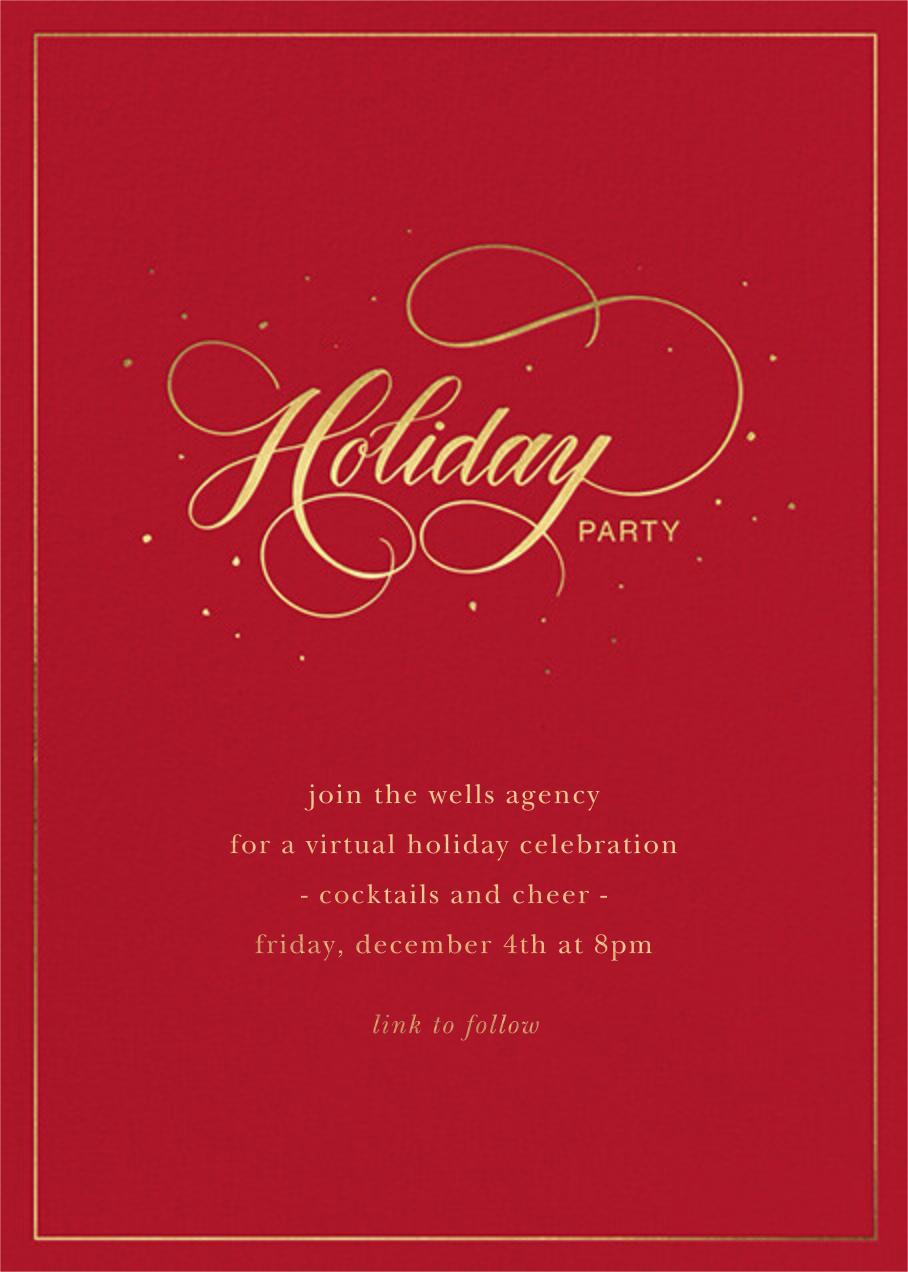 Jolly Holiday - Sugar Paper - Corporate invitations