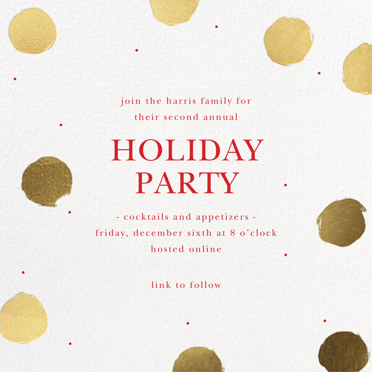 Painted Dots - Sugar Paper - Christmas party