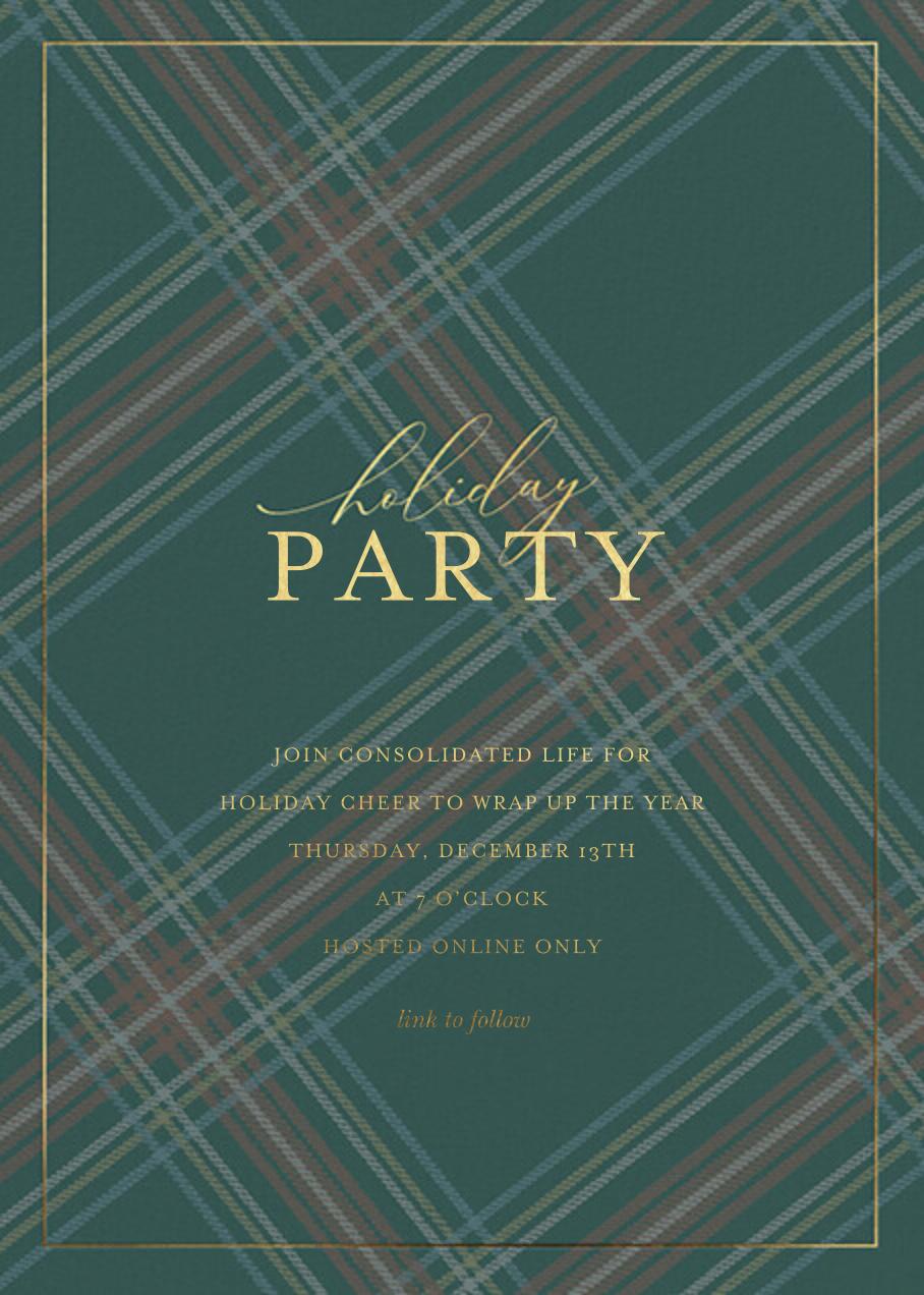 Tartan Soirée - Sugar Paper - Corporate invitations