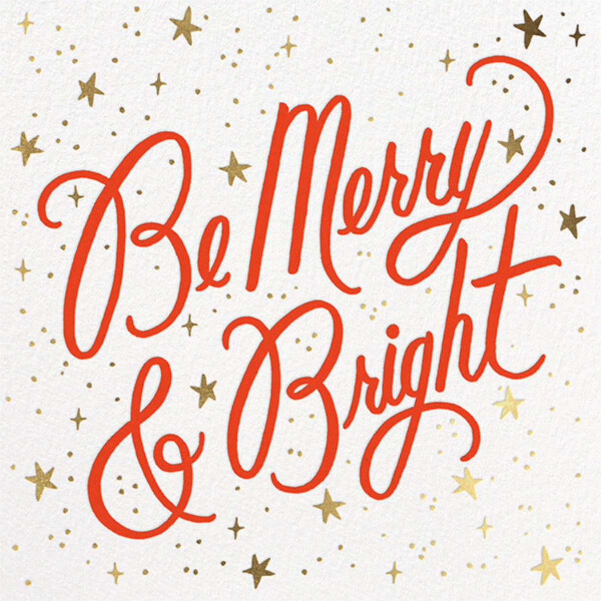 Merry and Bright Script - White - Rifle Paper Co. - Company holiday cards