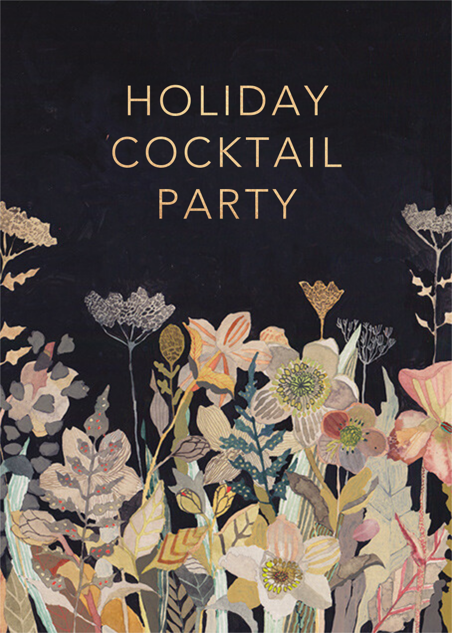 Winter Perennials (Michelle Morin) - Red Cap Cards - Corporate invitations