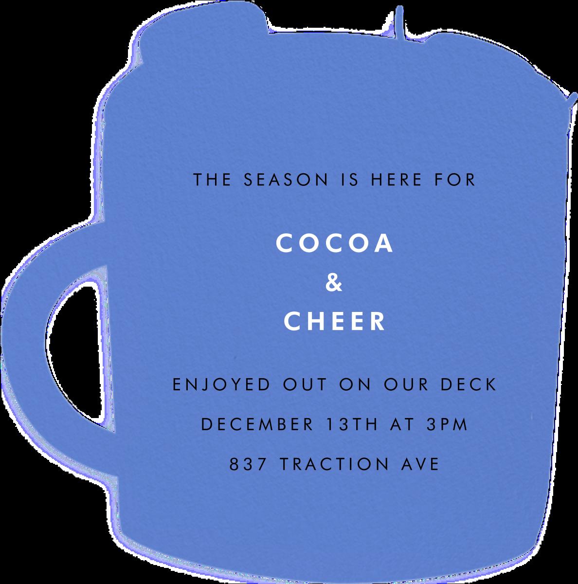 Marshmallow Mug - Hello!Lucky - Winter entertaining - card back