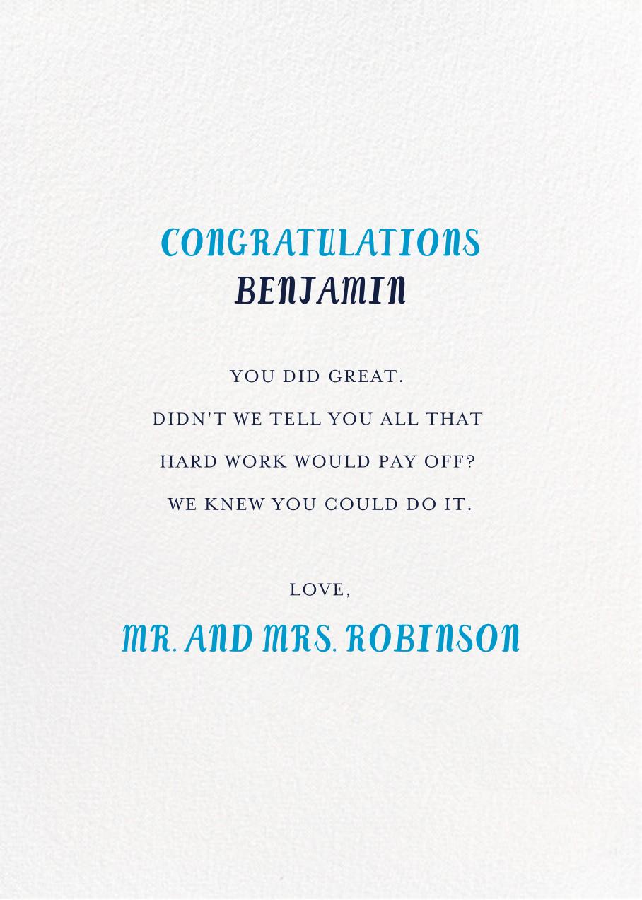 Gimlet for the Grad - Tan - Mr. Boddington's Studio - Graduation - card back