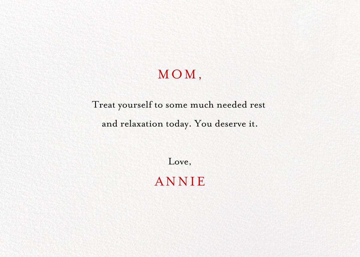 French Mommy - Light - Mr. Boddington's Studio - Mother's Day - card back