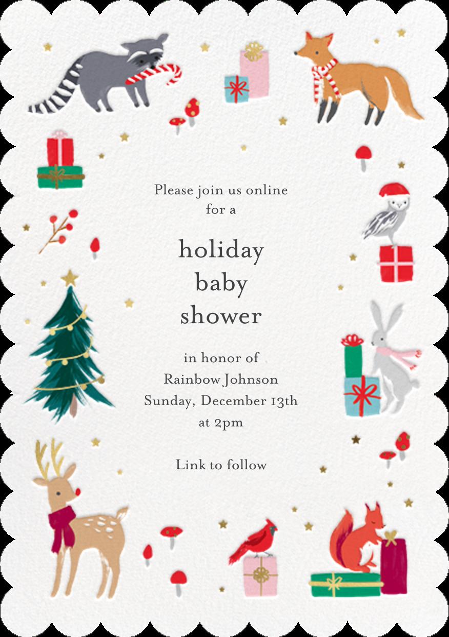 Christmas Critters - Meri Meri - Christmas baby shower invitations