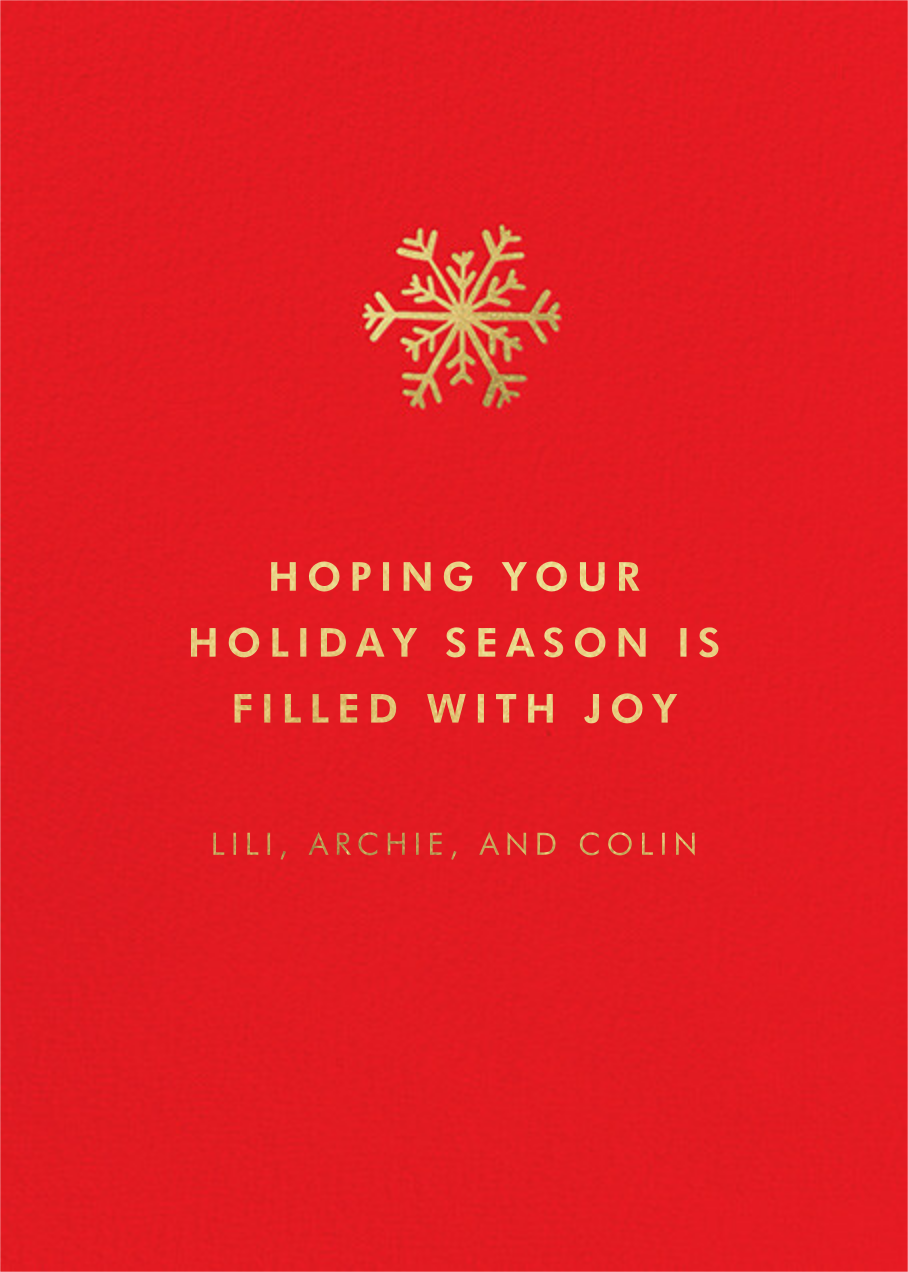 Joy and Wonder - Hello!Lucky - Holiday cards - card back