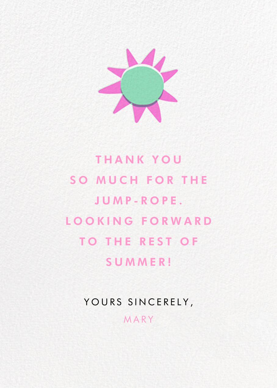 Silver Meadow - Hello!Lucky - Thank you - card back