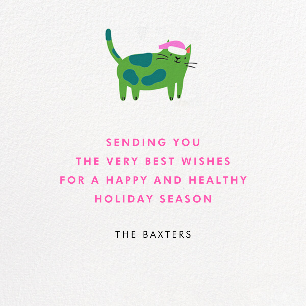 Bright Cats - Hello!Lucky - Holiday cards - card back
