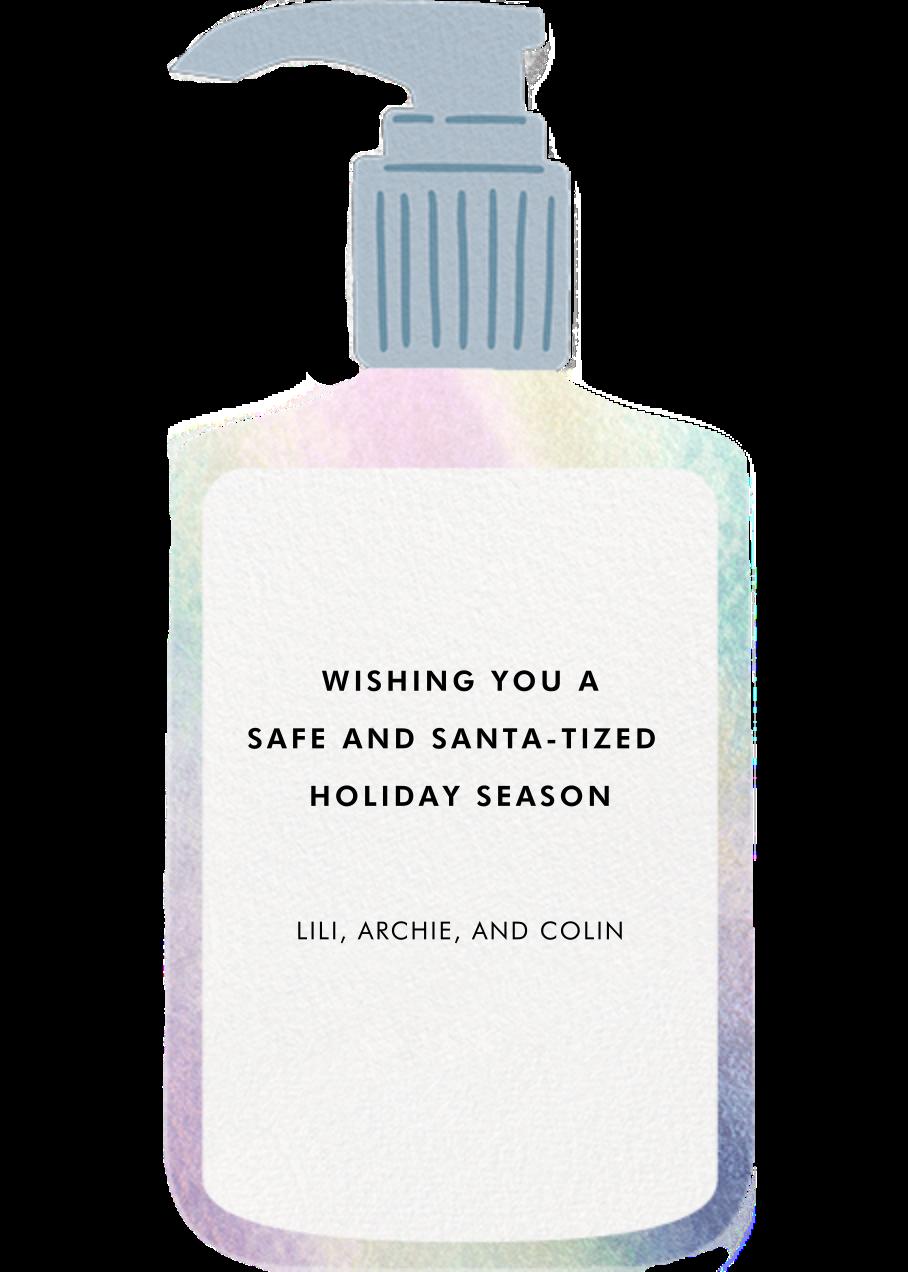 Santa-tizer - Fair - Hello!Lucky - Holiday cards - card back