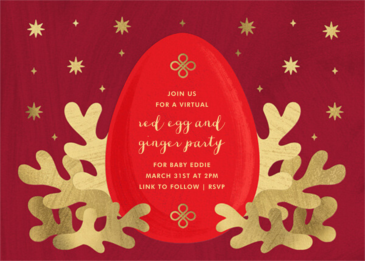 Red Egg - Paperless Post - 100 day celebrations