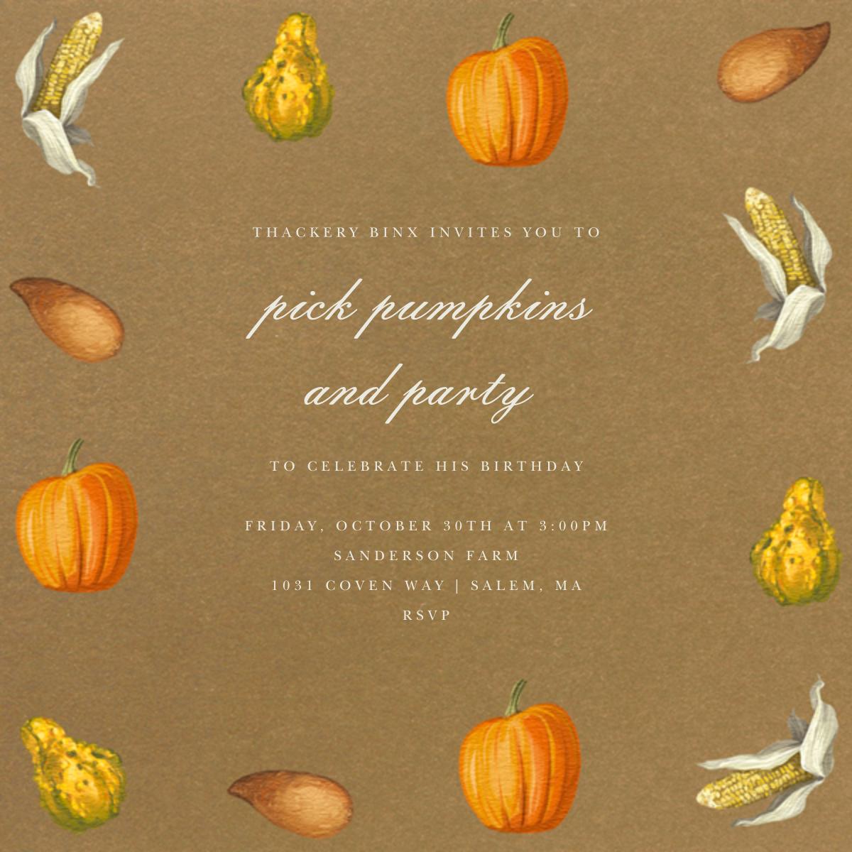 Thanksgiving Food - Paperless Post - Adult birthday
