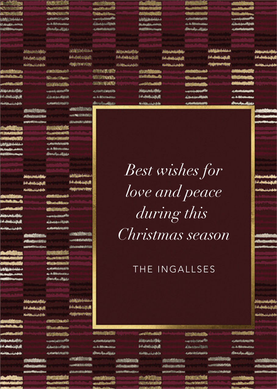 Filafette - Kelly Wearstler - Christmas - card back