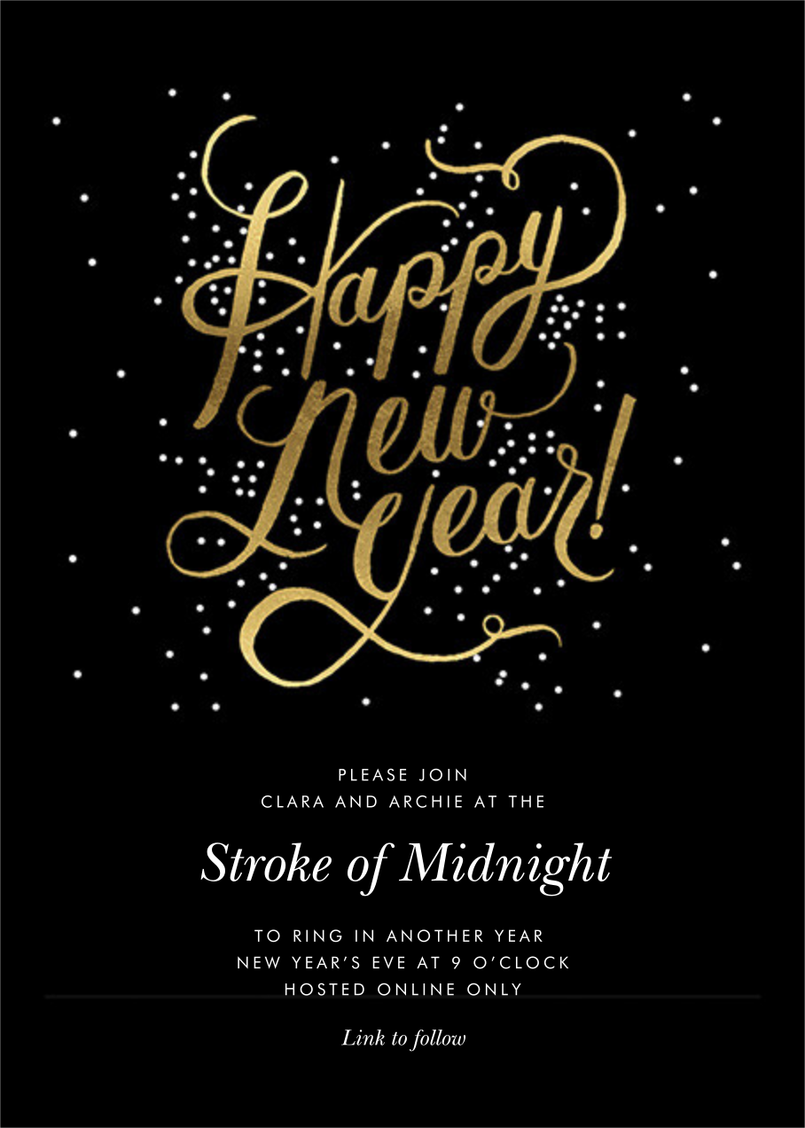 Shimmering New Year - Invitation - Rifle Paper Co. - New Year's Eve