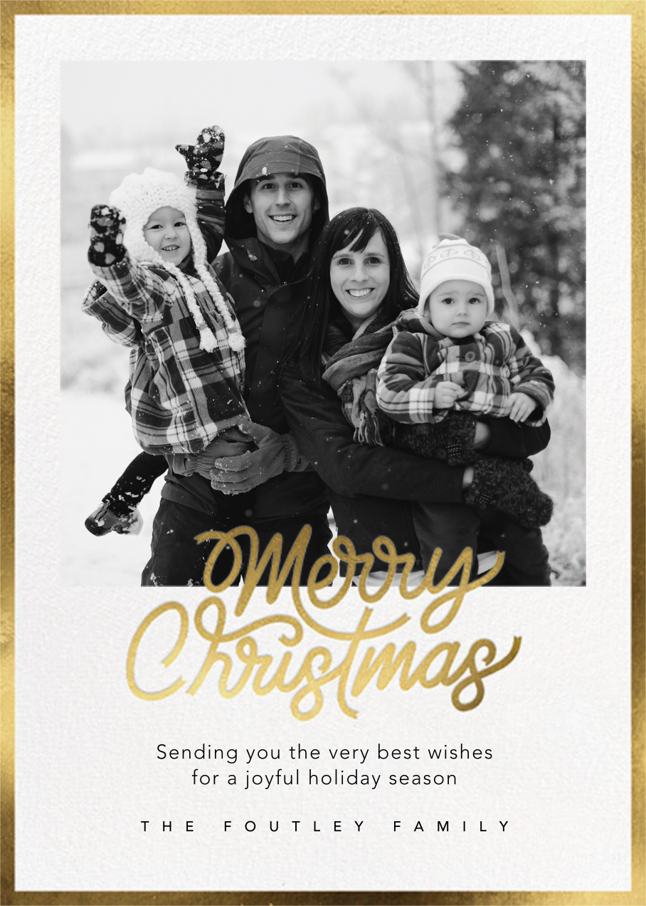 Shiny and New (Christmas) - Gold - Paperless Post