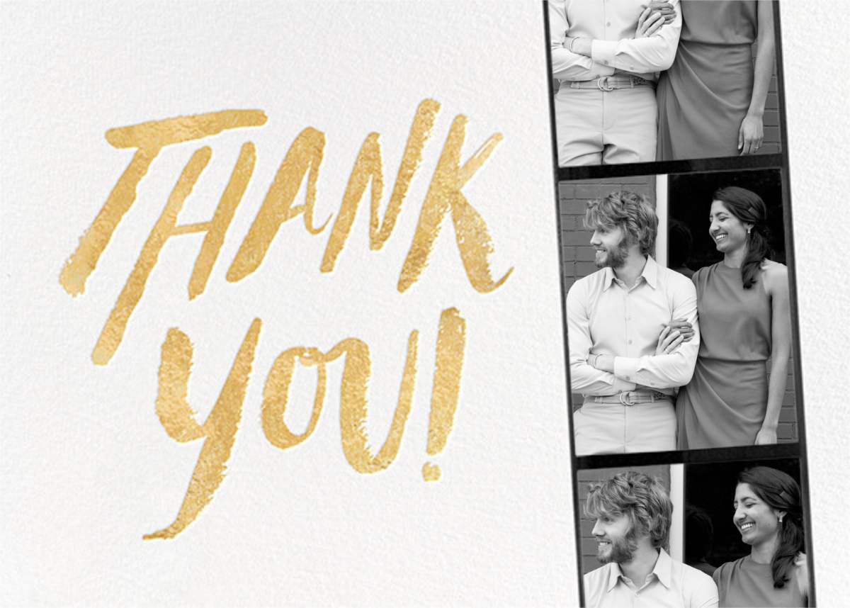 Photo Booth Thank You - Gold - kate spade new york - General