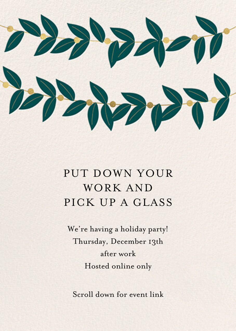 Greenery Garland - Meri Meri - Corporate invitations