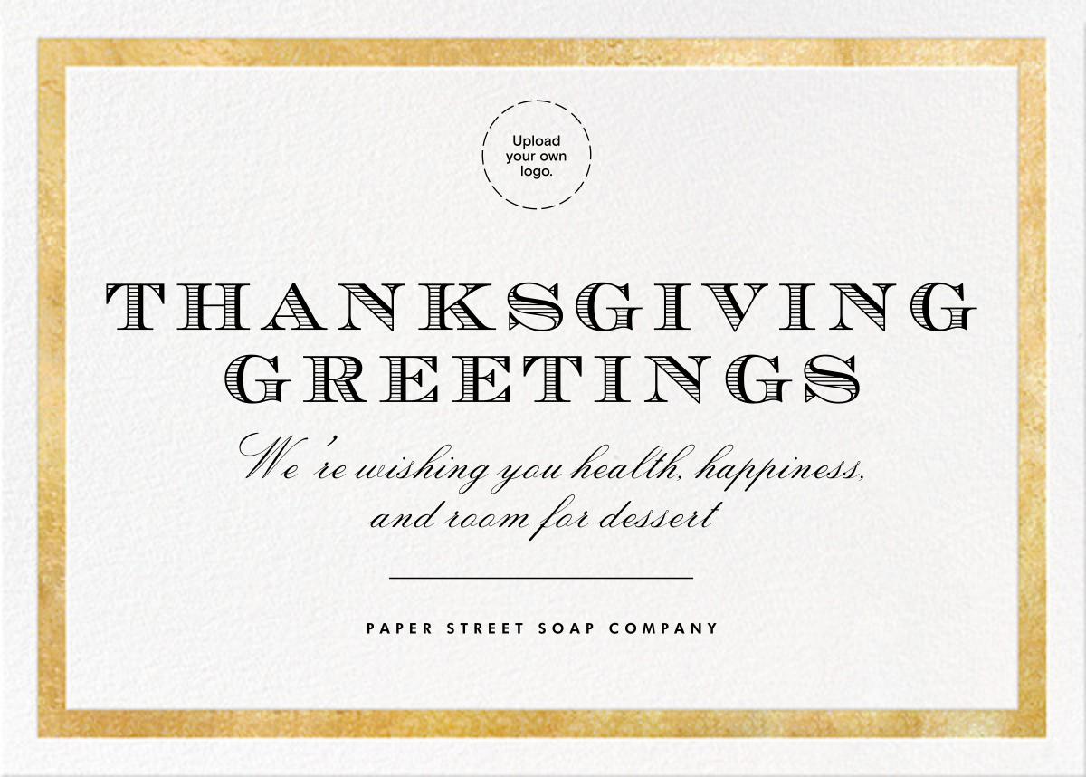 Foiled Frame (Horizontal) - Gold - Paperless Post - Thanksgiving greetings