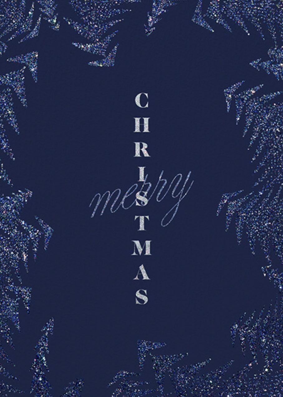 Crystal Pines Christmas (Greeting) - Dark Blue - Paperless Post - Christmas