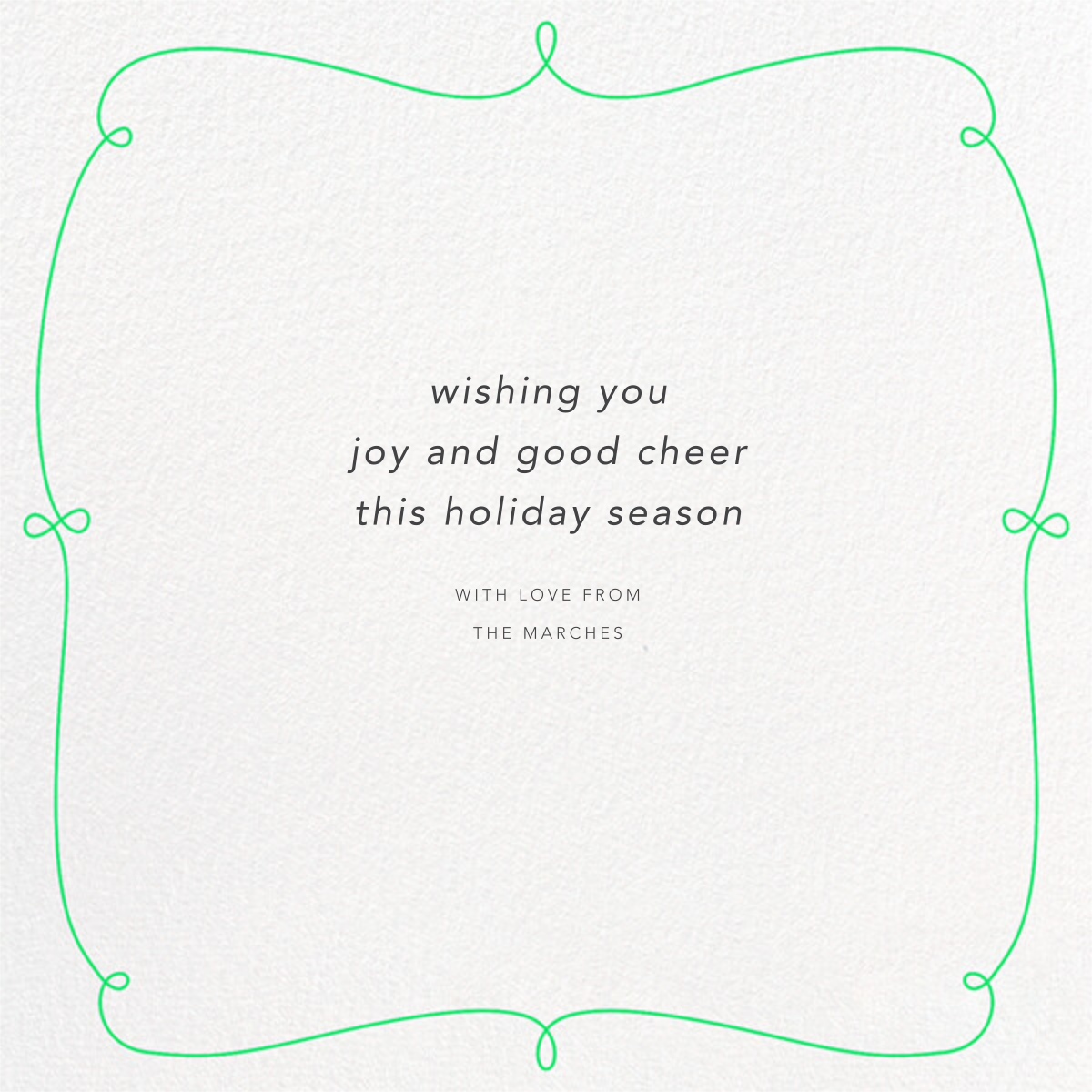 Happy Happy Holidays - Paperless Post - Holiday cards - card back