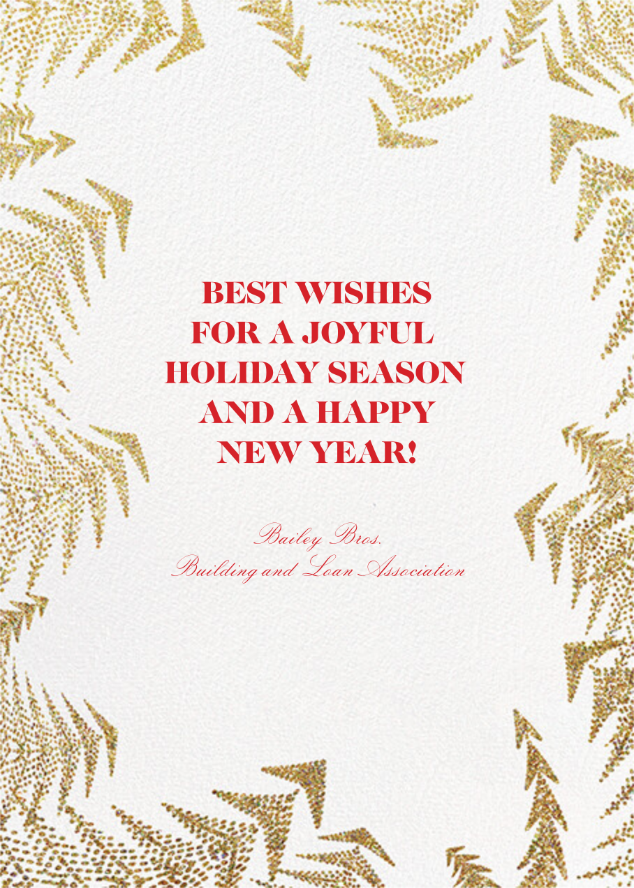 Crystal Pines Christmas (Greeting) - Gold - Paperless Post - Christmas - card back
