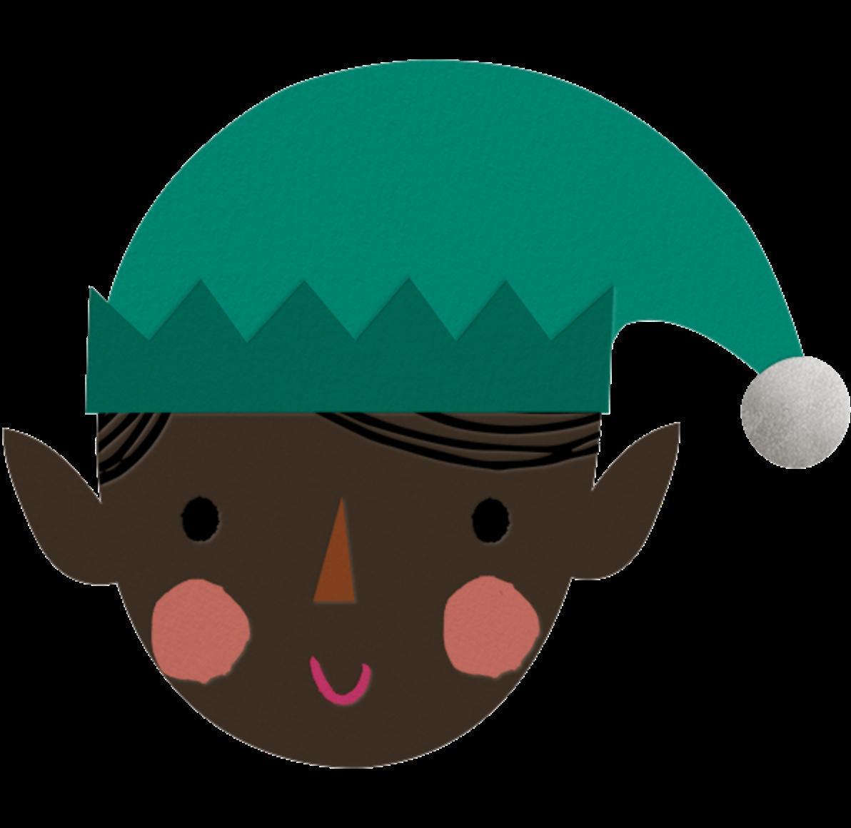 Blushing Elf - Deep - Meri Meri - Holiday cards