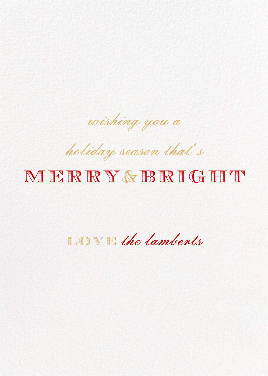 Perle Tall - Red - Paperless Post - Holiday cards - card back