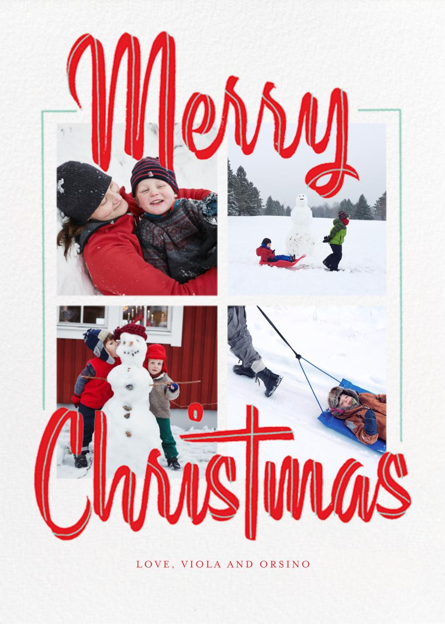 Retro Holidays (Multi-Photo) - Tall - Paperless Post - Christmas