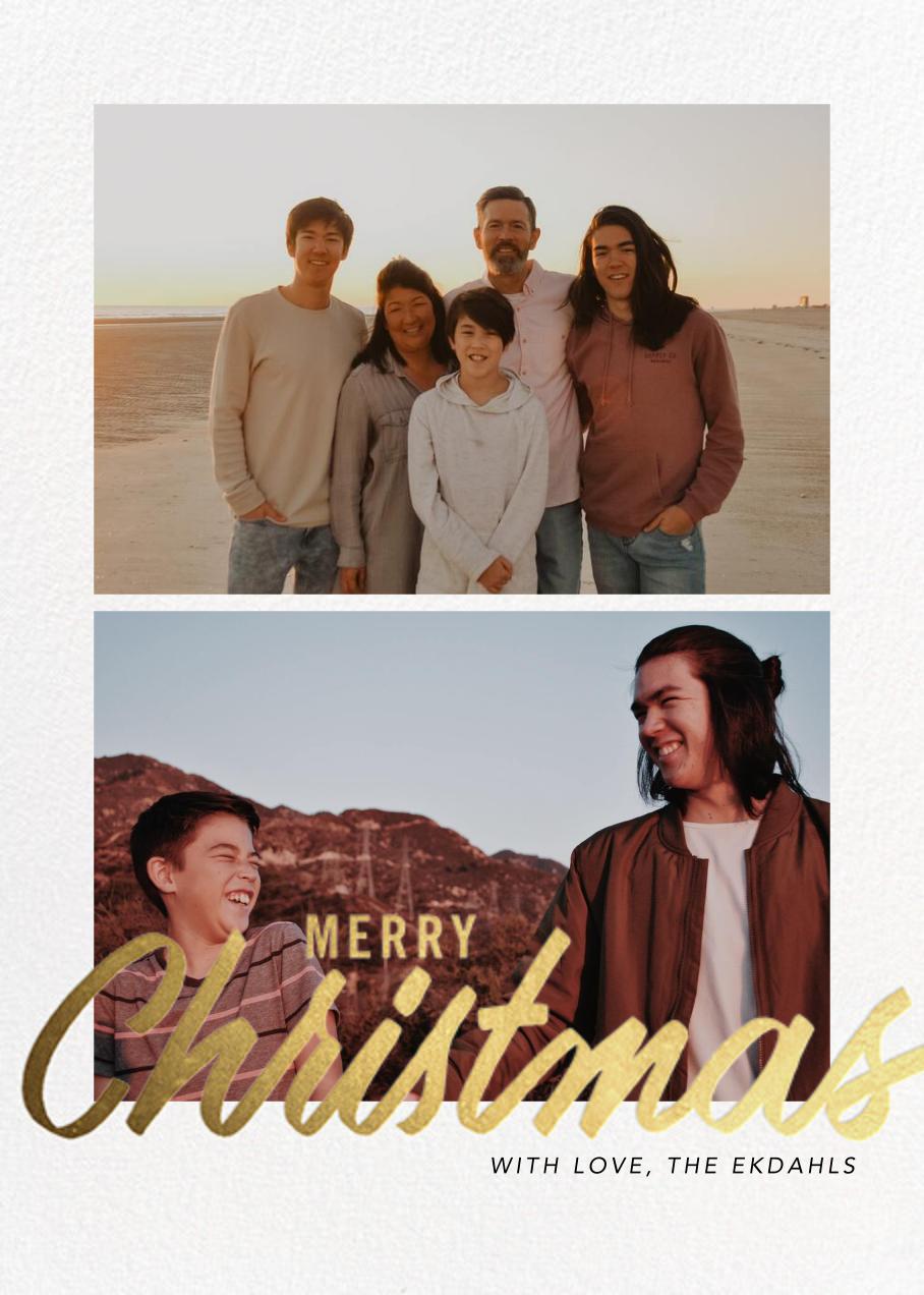 Evelina (Multi-Photo) - Merry Christmas - Paperless Post - Christmas