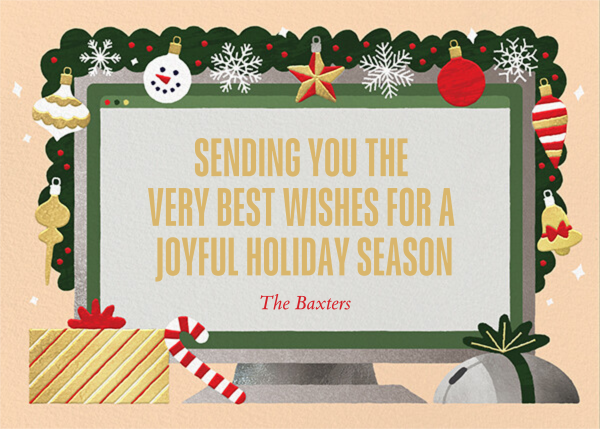 Home Screen (6 Photos) - Bellini - Paperless Post - Holiday cards - card back