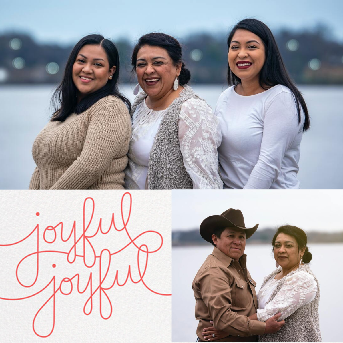 Happy Happy Joy Joy (2 Multi-Photo) - Coral - Paperless Post - Holiday cards