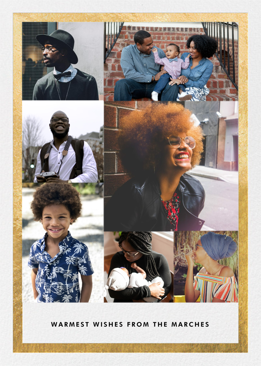 Perfect Portrait (7 Photos) - Gold - Paperless Post - Holiday cards
