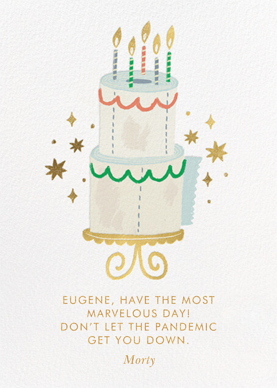 Twinkling Cake - TP - Paperless Post - Birthday