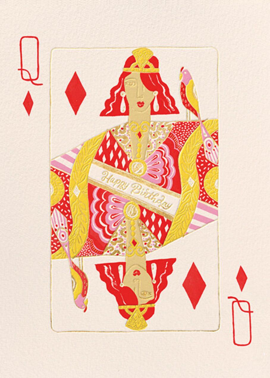 Queen of Diamonds (Danielle Kroll) - Light - Red Cap Cards