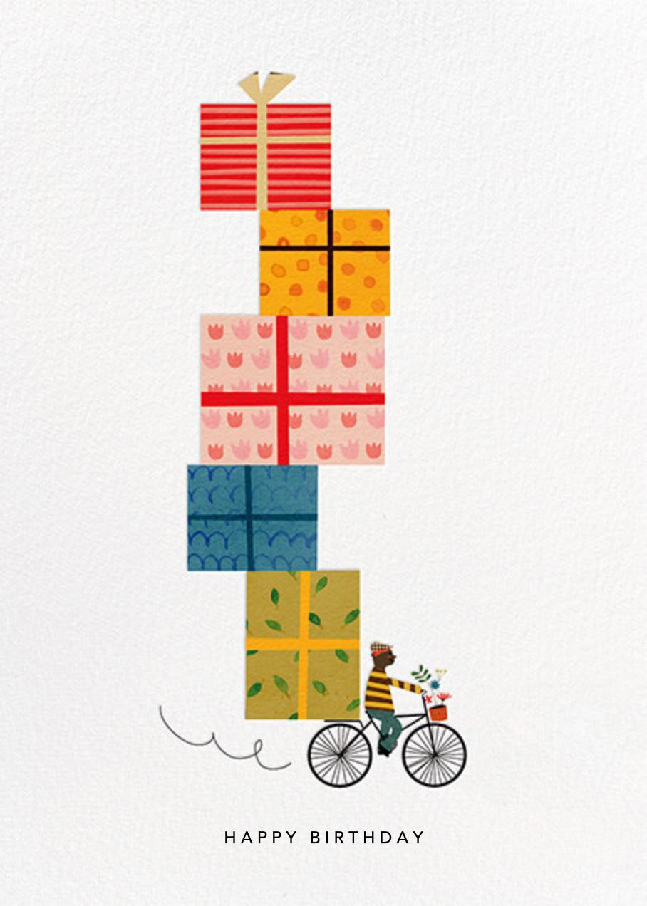 Birthday Bike (Blanca Gómez) - Deep - Red Cap Cards