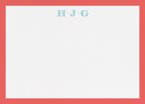 Pimlico - Coral - Paperless Post - Personalized stationery