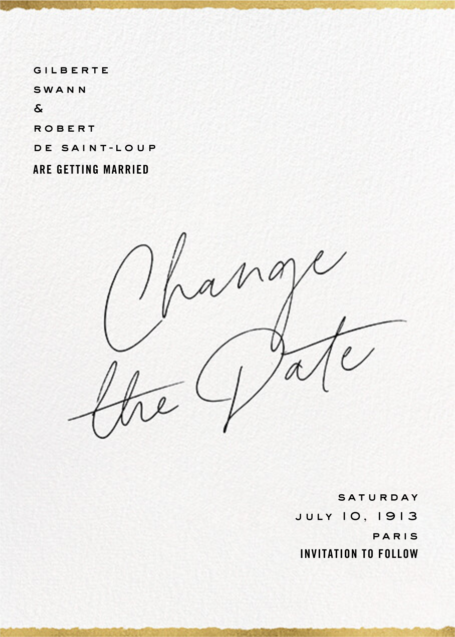 Change of Plans - Paperless Post - Save the date