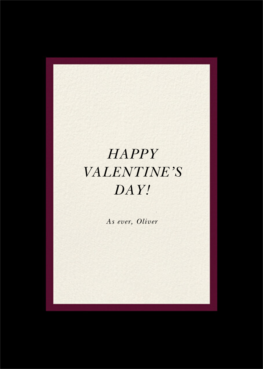 Falling Hearts Photo - Black - kate spade new york - Valentine's Day - card back