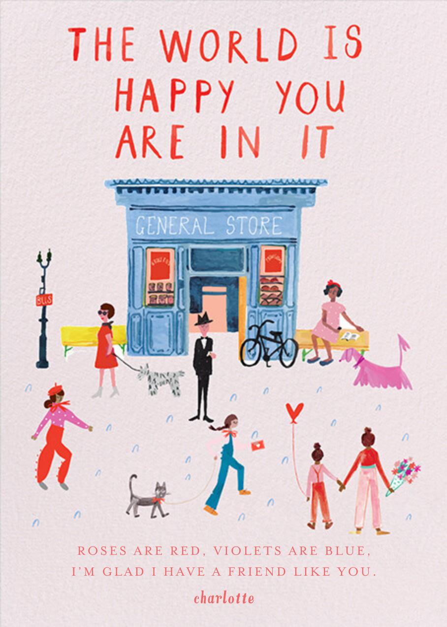 Glad You're Here - Sweet Pea - Mr. Boddington's Studio - Valentine's Day