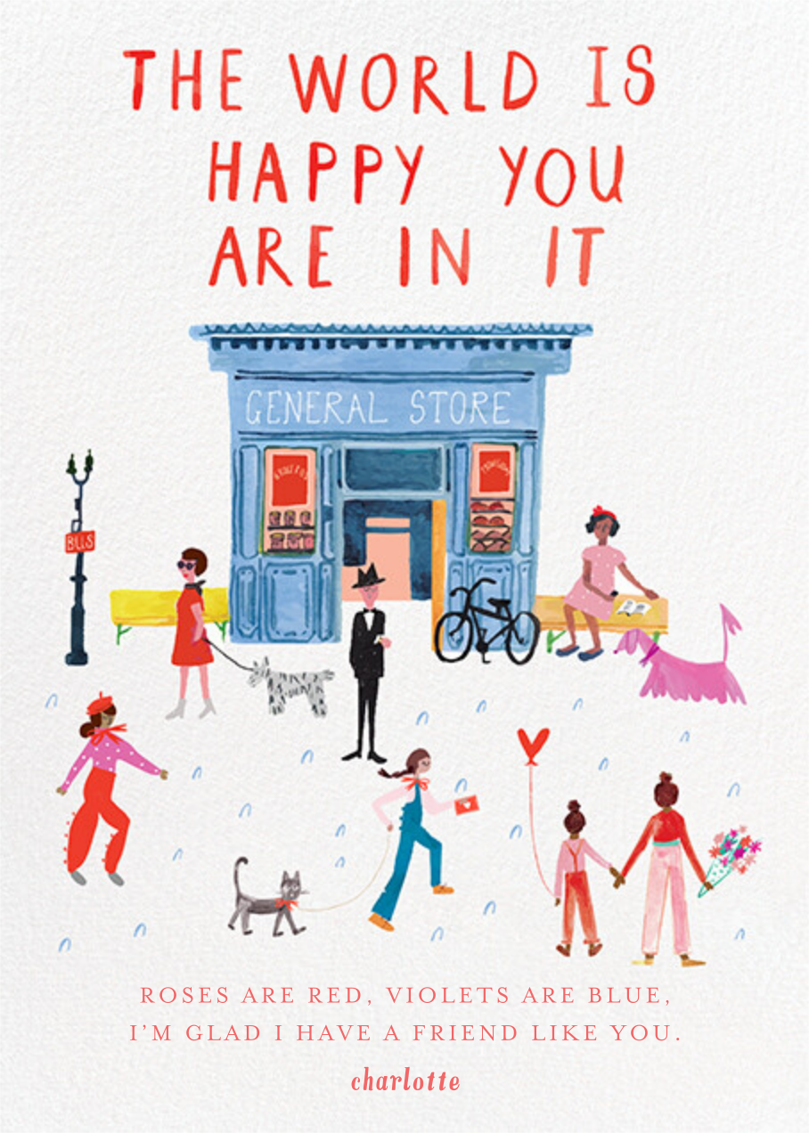 Glad You're Here - White - Mr. Boddington's Studio - Just because